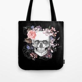 Dia Los Muertos, Floral Skull Tote Bag