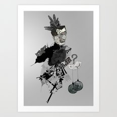 My interrogation? Art Print