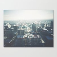 cityscape Canvas Prints featuring Cityscape by Melanie McKay