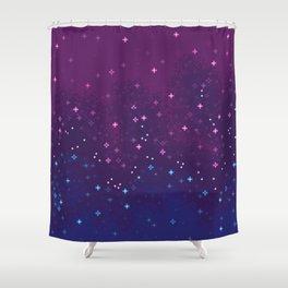 Bi Pride Flag Galaxy Shower Curtain