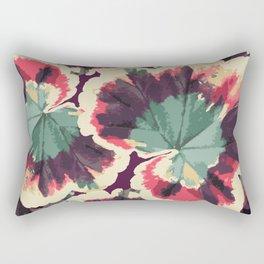 Colorful Geranium Illustrated Print Rectangular Pillow