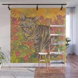 Tabby Afternoon in the Sun Wall Mural