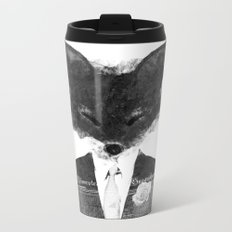 minima - dapper fox | noir Metal Travel Mug
