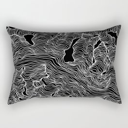 Inverted Enveloping Lines Rectangular Pillow