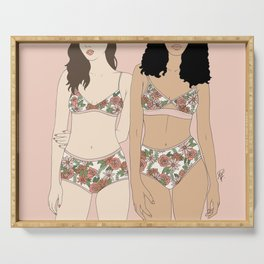 Girls in Florals Serving Tray