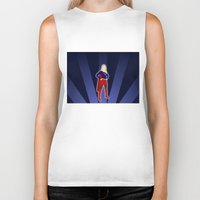 supergirl Biker Tanks featuring Supergirl by livinginamovie