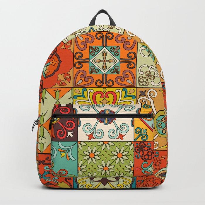 Vintage mosaic talavera ornament Backpack