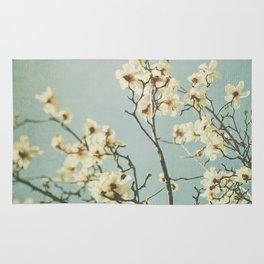 Magnolia blossoms. Mint Rug