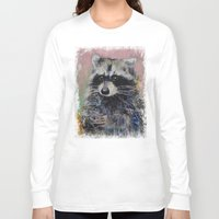 raccoon Long Sleeve T-shirts featuring Raccoon by Michael Creese