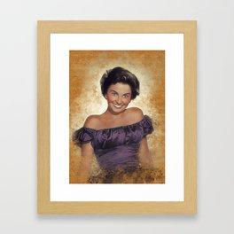 Jean Simmons, Movie Star Framed Art Print