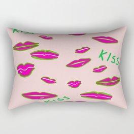Neon Lips Rectangular Pillow