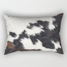 Brown Cowhide Rectangular Pillow