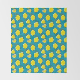 Lemons Throw Blanket