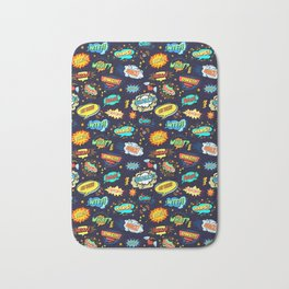 Retro Vintage Comic Book Speech Bubbles Design Bath Mat