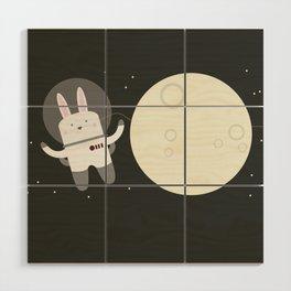 Astro Bunnies Wood Wall Art