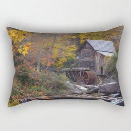 Glade Creek Grist Mill in Autumn II Rectangular Pillow