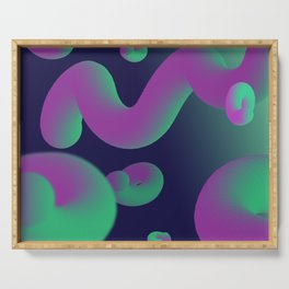 Dope gradient blobs from space Serving Tray