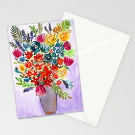 Autumn wildflowers in a vase Stationery Cards