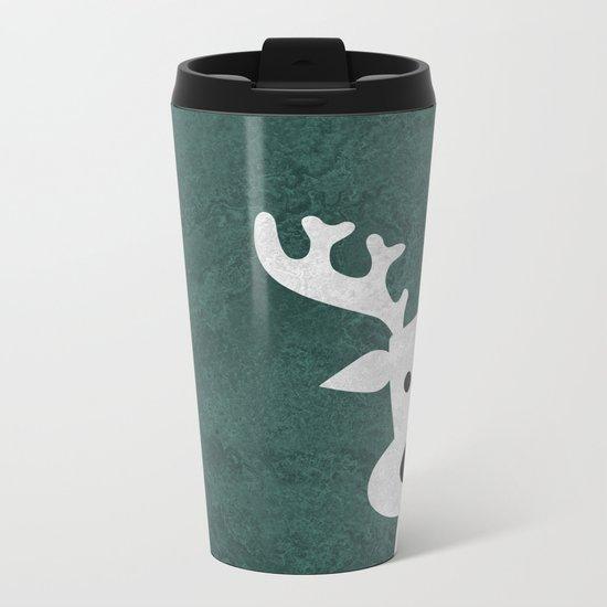 Christmas reindeer marble Metal Travel Mug
