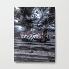 Train Graffiti Metal Print