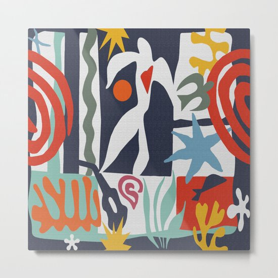 Inspired to Matisse Metal Print