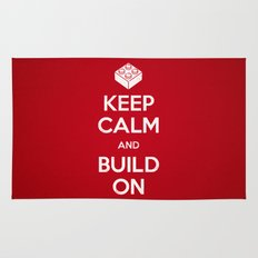 Keep Calm and Build On Rug
