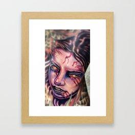 zombie girl Framed Art Print