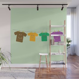 Hanging Tee Family Wall Mural