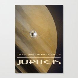 Jupiter Vintage Travel Poster Canvas Print