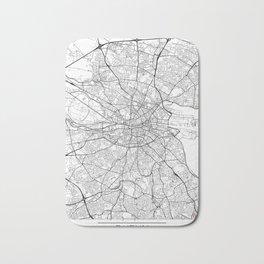 Dublin Map White Bath Mat