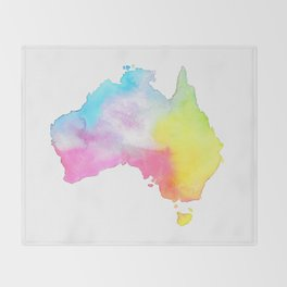 Australia | Map Illustration Throw Blanket
