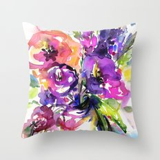 Floral Dance No. 5 by Kathy Morton Stanion Throw Pillow