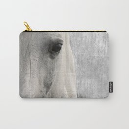 Horse Photography White Horse Close Up Modern Home Decor Gift for the Equestrian Art A833 Carry-All Pouch
