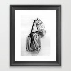 Bag and Hat Framed Art Print