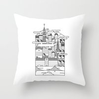 tokyo Throw Pillows featuring TOKYO by Design Made in Japan