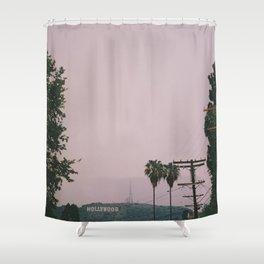 Rainy Hollywood Shower Curtain