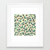 leopard Framed Art Prints featuring Leopard by Jacqueline Maldonado