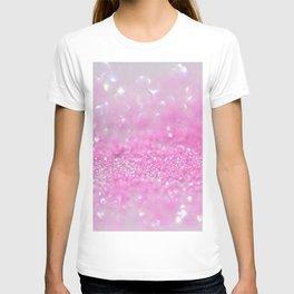 Sparkling Baby Girl Pink Glitter Effect T-shirt