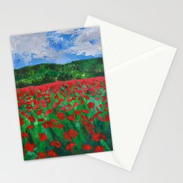 Poppy Field Stationery Cards
