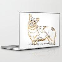 corgi Laptop & iPad Skins featuring Corgi!!!! by katieWalkerDesigns