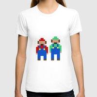 luigi T-shirts featuring Mario and Luigi by Pixel Icons