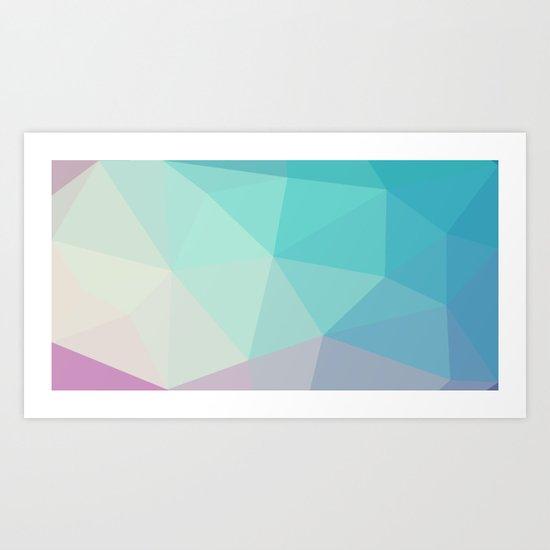 Polygon art 03 Art Print