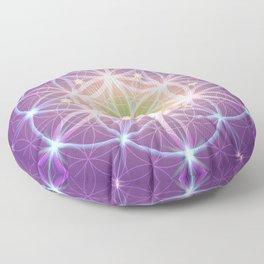 Purple Flower of Life Floor Pillow