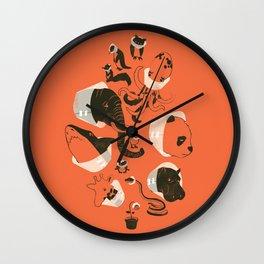 Cones of Shame (orange) Wall Clock