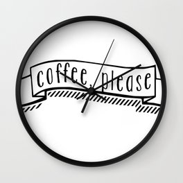 coffee, please Wall Clock