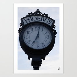 Einstein's clock is exactly one minute... Art Print