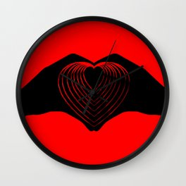 IHU - I heart you! Wall Clock