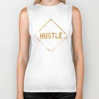 """hustle Biker Tanks featuring HUSTLE by """"dfrnt"""""""