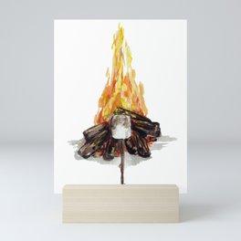 Campfire, Smore, Marshmallow Roasting, Camping Mini Art Print