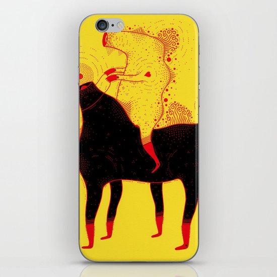 Yellow Rider iPhone & iPod Skin